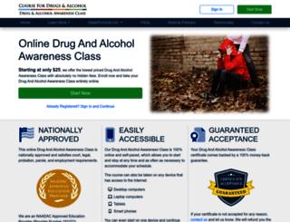 coursefordrugsandalcohol.com screenshot