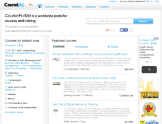 courseforme.sg screenshot