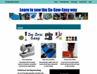 courses-so-sew-easy.com screenshot