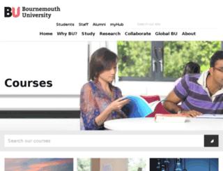 courses.bournemouth.ac.uk screenshot