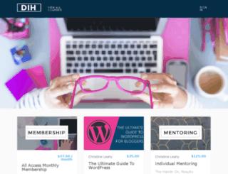 courses.dihuniversity.com screenshot