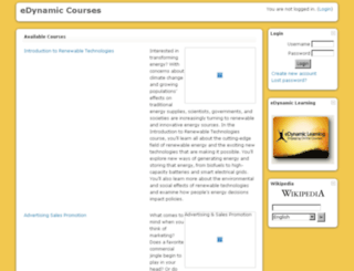 courses.edynamiclearning.com screenshot