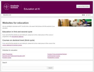 courses.ki.se screenshot