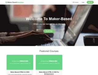 courses.makerbased.com screenshot