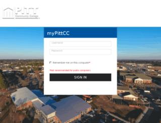 courses.pittcc.edu screenshot