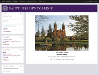 courses.saintjoe.edu screenshot