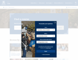 coursesearch.unimelb.edu.au screenshot