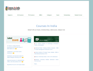 coursesinindia.co.in screenshot