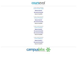 courseval.llu.edu screenshot