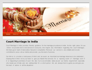 court-marriage-india.com screenshot