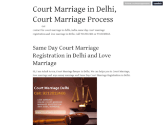 courtmarriageindelhi.tumblr.com screenshot