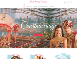 courtmarriagemumbai.com screenshot