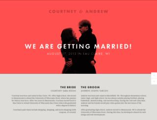 courtneyandrew.com screenshot