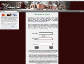 courtpay.delaware.gov screenshot