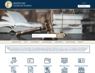 courts.ky.gov screenshot