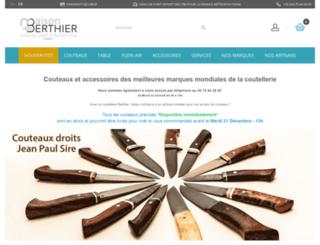 couteaux-berthier.com screenshot