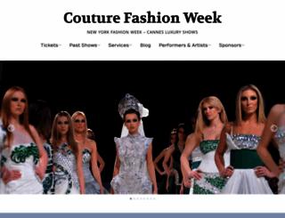 couturefashionweek.com screenshot