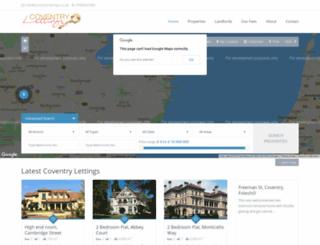 coventry-lettings.co.uk screenshot