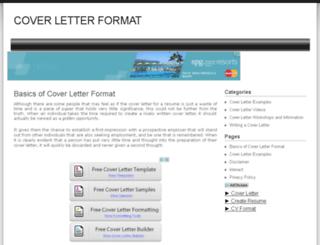 coverletterformat.org screenshot