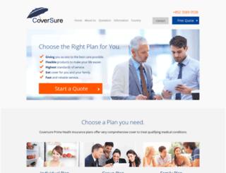 coversure.com screenshot