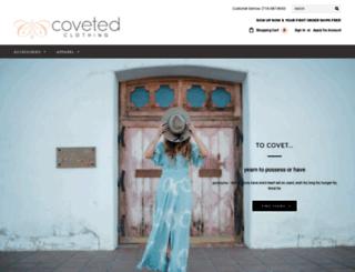 covetedclothing.com screenshot