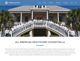 covington.allamericanhealthcare.net screenshot