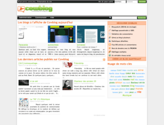 cowblog.fr screenshot