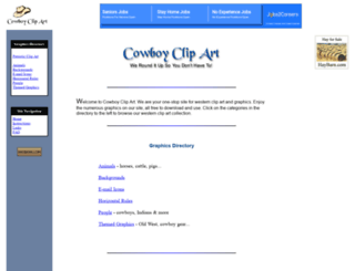 cowboyclipart.net screenshot