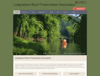 cowpastureriver.org screenshot