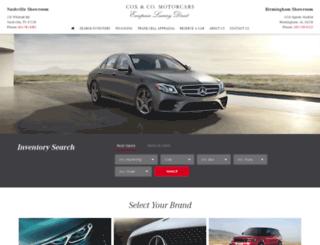 cox-motorcars.com screenshot