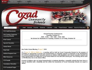 cozad.schoolfusion.us screenshot