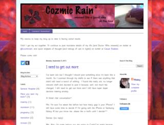 cozmicrain.blogspot.ae screenshot