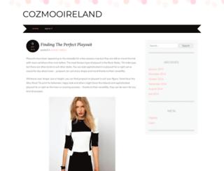 cozmooireland.wordpress.com screenshot