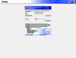 cp.arananetwork.info screenshot