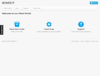 cp.bdweb.info screenshot