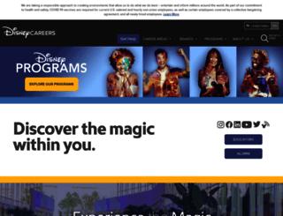 cp.disneycareers.com screenshot