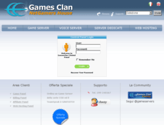 cp.gamesclan.it screenshot