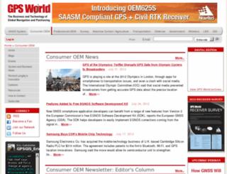 cp.gpsworld.com screenshot