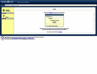 cp.names4ever.com screenshot