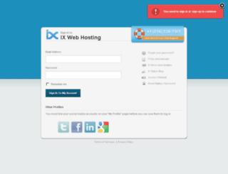 cp13.ixwebhosting.com screenshot