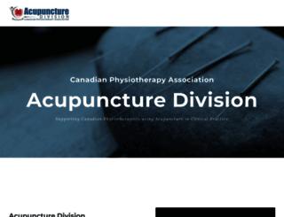 cpaacupuncture.ca screenshot