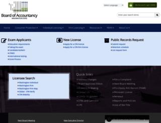 cpaboard.wa.gov screenshot