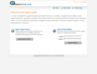 cpanelservice.com screenshot