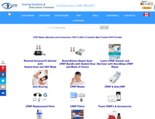 cpapclinic.ca screenshot