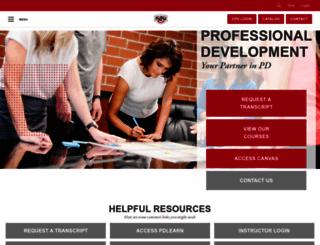 cpd.nnu.edu screenshot