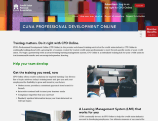 cpdonline.cuna.org screenshot