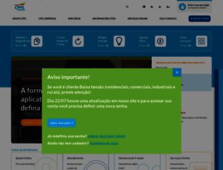 cpfl.com.br screenshot