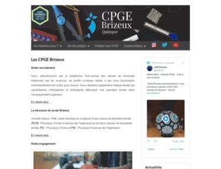 cpge-brizeux.fr screenshot