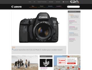 cpn.canon-europe.com screenshot