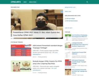cpns.info screenshot